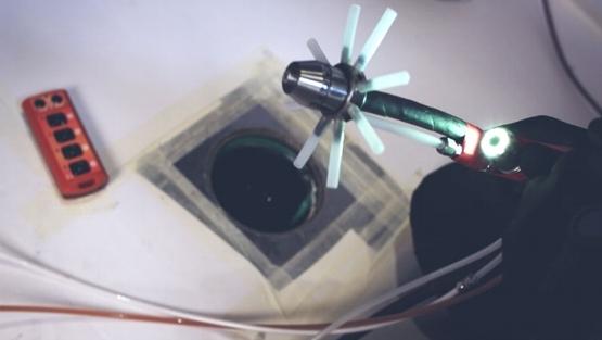 Saneamiento de bajante fibrocemento, limpieza e inspección final