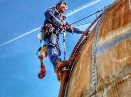 Trabajos en altura telescopio Valencia